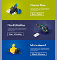cinema time film collection and movie award vector image vector image