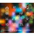 circus icons set in linear style on colorful vector image vector image