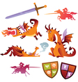 Collection of Dragons vector image vector image