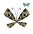 Colorful butterfly with eyes for your design vector image vector image