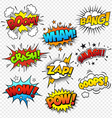 Comic Sound Effects vector image vector image