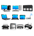 Computers printers technology electronics vector | Price: 3 Credits (USD $3)