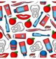 Dental health and dentistry seamless pattern vector image vector image