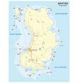 diving map thai island koh tao vector image