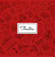 doodle theatre elements background vector image vector image