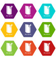 doy pack icons set 9 vector image