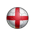 english flag football - soccer ball vector image vector image