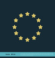 europe flag star icon template design eps 10 vector image vector image