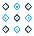 executive icons colored set with business target vector image vector image