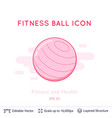 fitness ball icon isolated on white vector image