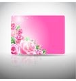 Gift card with roses vector image vector image