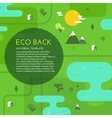 Green eco background vector image