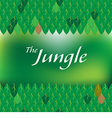 green jungle forest frame vector image vector image