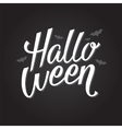 Halloween banner or poster lettering vector image vector image