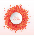 hello autumn watercolor floral design flowers vector image vector image