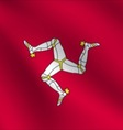 Isle of Man flag vector image vector image