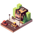 isometric butcher shop vector image vector image