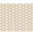japanese gold background and pattern wave pattern vector image