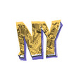 lettering ny city clothes fashion printing vector image vector image