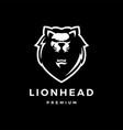 lion head logo icon lion head logo icon vector image vector image