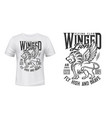 lion print t-shirt mockup aviation flying club vector image