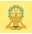 Man sitting in meditation pose vector image