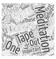 meditation tapes Word Cloud Concept vector image vector image