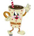 nostalgic soda vector image vector image