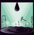 oil industry with drops vector image