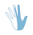 opened palm of the hand cartoon icon