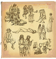 People Natives An hand drawn pack vector image