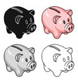 piggy bank icon in cartoon style isolated on white vector image vector image