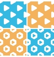 Play button pattern set colored vector image vector image