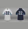realistic american football jersey vector image vector image