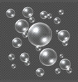 realistic soap bubbles white 3d soap sphere vector image