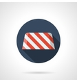 Road barrier round flat icon vector image vector image