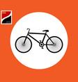 road bike icon vector image vector image