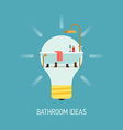 Room Ideas for a Bathroom vector image vector image