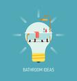 Room Ideas for a Bathroom vector image vector image