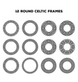 Round Celtic Frames vector image vector image