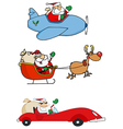 Santa Claus Transportation vector image vector image