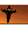 scarecrow background vector image vector image