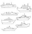 set of ships vector image
