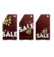 set sale and discount paper labels with golden vector image vector image