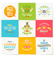 set travel and summer vacation type design vector image vector image