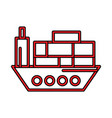 shipping perfect icon or pigtogram in filled style vector image