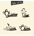 signs of tea vector image vector image