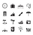 Silhouette travel and tourism icons vector image vector image