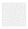 Square maze labyrinth black thin outline