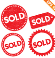 Stamp sticker sold tag collection - - EPS10 vector image vector image